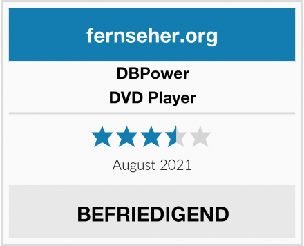 DBPower DVD Player Test
