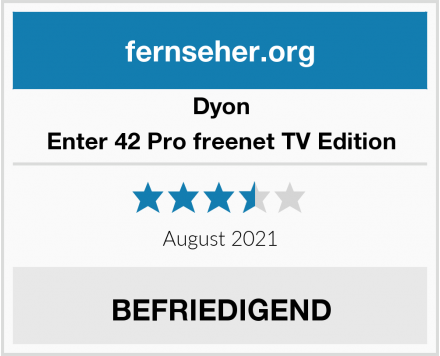 Dyon Enter 42 Pro freenet TV Edition Test