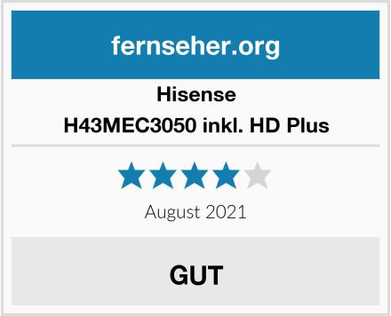 Hisense H43MEC3050 inkl. HD Plus Test