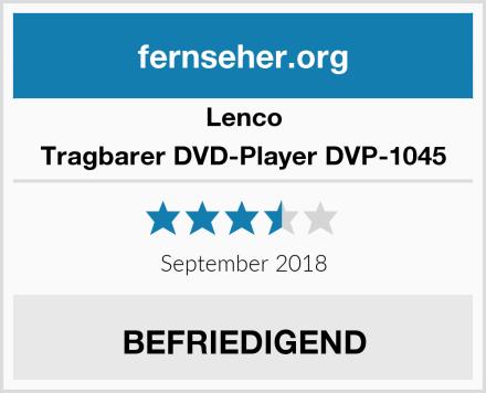 Lenco Tragbarer DVD-Player DVP-1045 Test