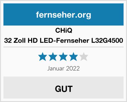 CHIQ 32 Zoll HD LED-Fernseher L32G4500 Test