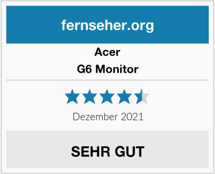 Acer G6 Monitor Test