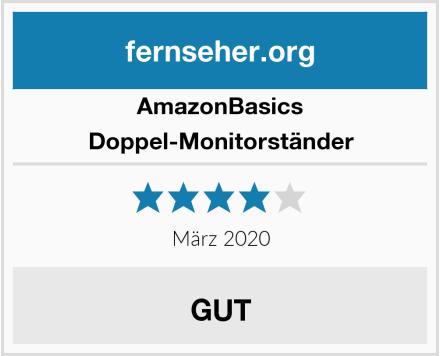 AmazonBasics Doppel-Monitorständer Test