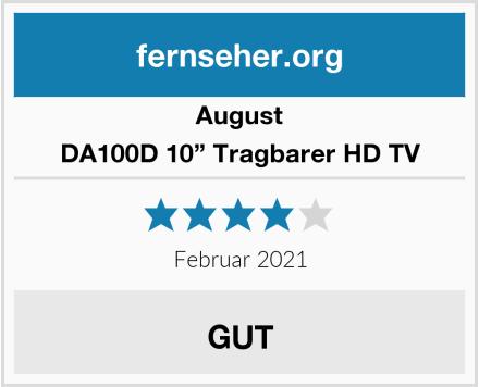 """August DA100D 10"""" Tragbarer HD TV Test"""