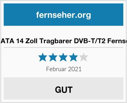 ASHATA 14 Zoll Tragbarer DVB-T/T2 Fernseher Test